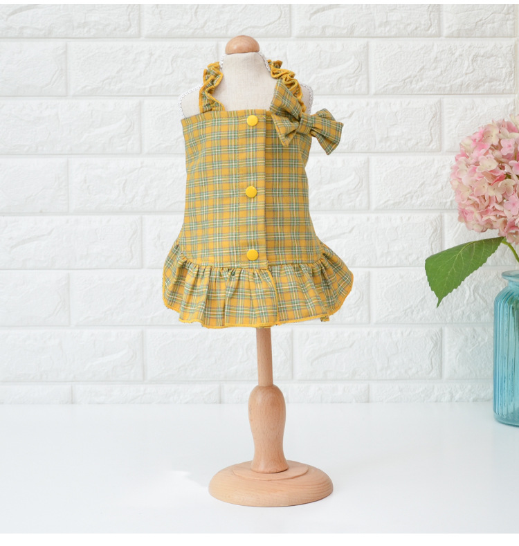 Spring-and-Summer-Dog-Clothes-with-Big-Bow-Decor-Yellow-Red-Colors-Xs-xl-Sizes-Dress(3)
