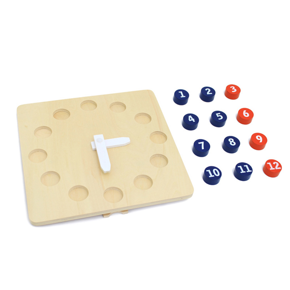 Montessori Materials Wooden Puzzles Learning Clock Time Telling Activity  Kindergarten Teaching Aids Educational Toy For Children Calendar & Time  -  AliExpress
