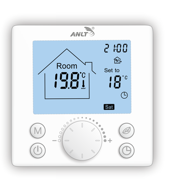Thermostat with sensor for floor heating 110 120 220 230V 16A floor heating combined with ventilation