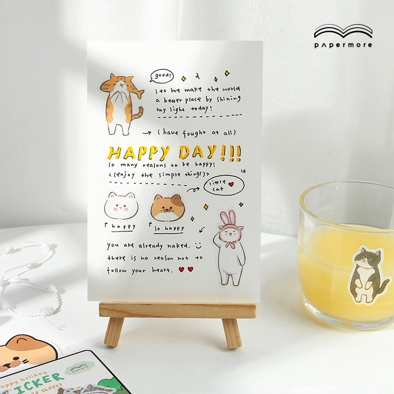 Image 2 - New Cute character diary Paper sticker Scrapbooking Decoration label 1 lot = 16 packs WholesaleStationery Stickers   -