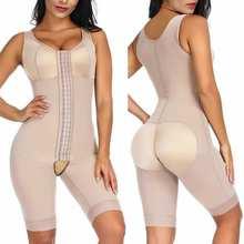 Body Shaper Shape Wear Women Chest Binder Tummy Control Underwear One-piece Full Shapewear Butt Lifter Push Up Bra Bodysuit