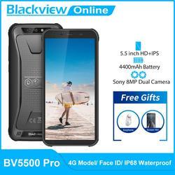 Blackview BV5500 Pro IP68 Водонепроницаемый прочный смартфон, 3 Гб оперативной памяти, Оперативная память + 16 Гб Встроенная память 4400 мАч Android 9,0 пирог с ...