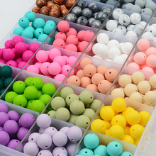 50pcs Silicone Beads 12mm Eco-friendly Sensory Teething Necklace Food Grade Mom Nursing DIY Jewelry Baby Teethers(China)