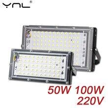 Focos led spotlight 50w ac 220v refletor led ponto luz de inundação jardim iluminação holofote cozinha ao ar livre iluminação de rua