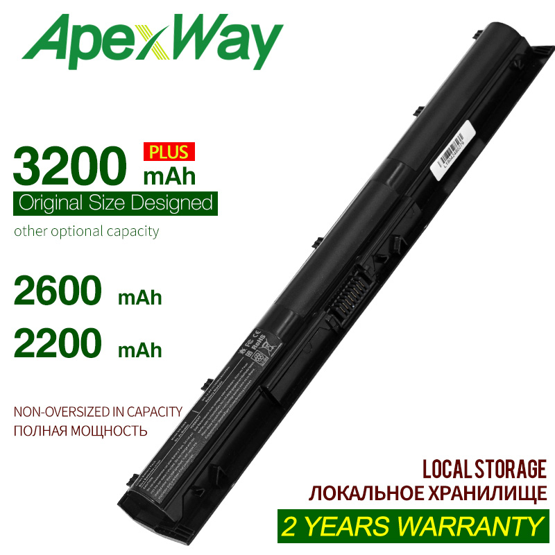 ApexWay Laptop Battery KI04 HSTNN-DB6T 800010-421 HSTNN-LB6S 800049-001 For HP Pavilion 14 15 17 17-g000 17-g099