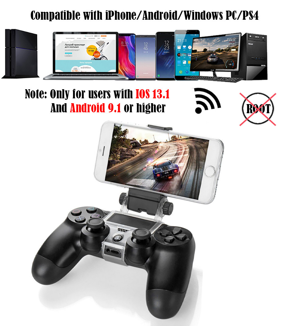 Bluetooth Gamepad and Wireless Gaming Controller for PS4 Pro/PC/iPhone/Android Smartphone 7