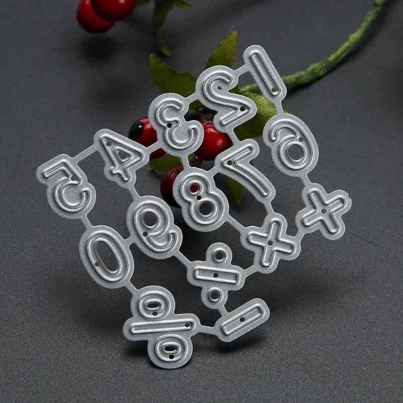 10pcs Nummer Symbool Craft Decoratieve Nummer Metalen Snijden Sterven DIY Fotoalbum Scrapbook Embossing Stencils Papier Art Cutter Mold