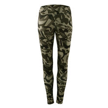 Yoga Crop Top + Pants Fitness Leggings Workout Sport Wear Camoflage Slim Fit S-XL Long Sleeve(China)
