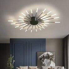 Multi-головки светодиодный Потолочные светильники для дома гостиная Спальня ткань кафетерий поверхностного монтажа дома деко современный св...