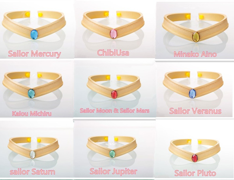 Anime Cosplay Sailor Stars Sailor PVC Head Band Venus Jupiter mercury  Mars Saturn Halloween