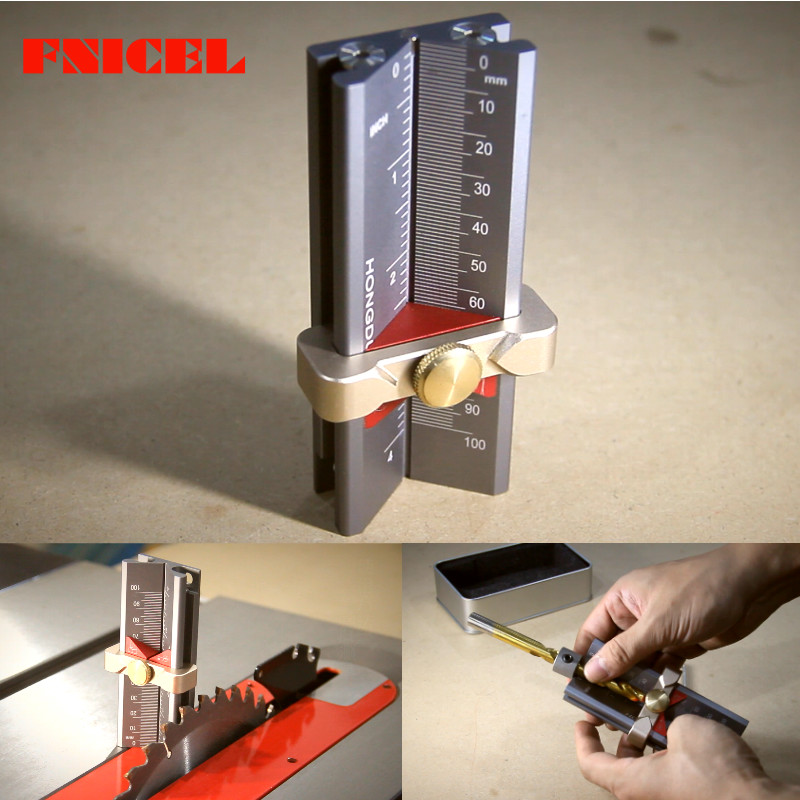 Multi-functional Woodworking Tools Drill Limit Ring Installation Aid Router Saw Table Height Gauge Drill Angle Measurer Rule