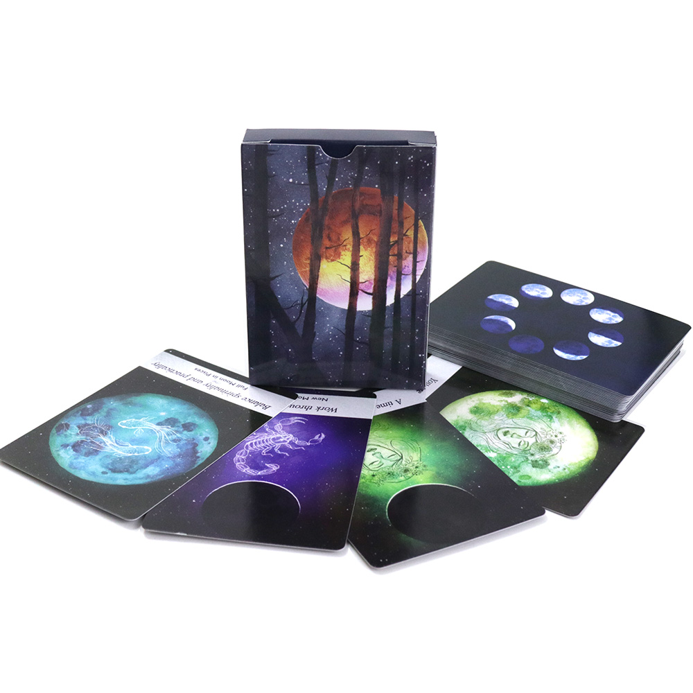 Moonology Oracle Cards, 44 Playing Cards, Guidance English Mysterious Read Future Tarot Cards Deck Board Games
