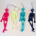 Хитовый пугающий человеческий скелет, модель костей человеческого тела, мини-фигурка, забавные трюки, брелок, Декор, Детские розыгрыши, игру...