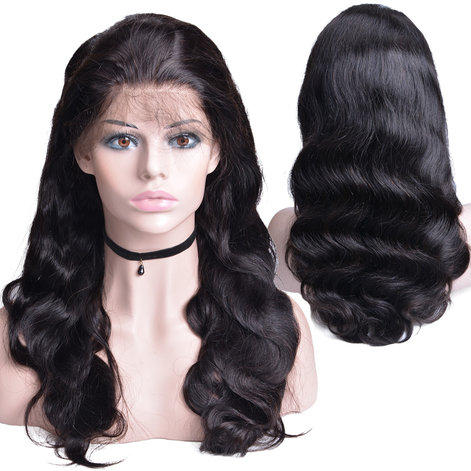 Lace Front Human Hair Wigs 13X4 Pre Plucked Non Remy Brazilian Body Wave Lace Frontal Wigs With Baby Hair For Black Women