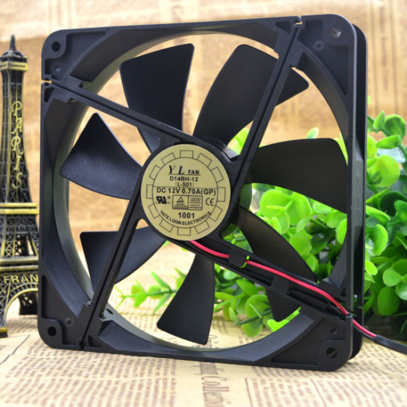 Free Delivery.14 <font><b>cm</b></font> 14025 power resistance of the AN yue lun/<font><b>fan</b></font> D14BH - <font><b>12</b></font> mute a cooling <font><b>fan</b></font> image