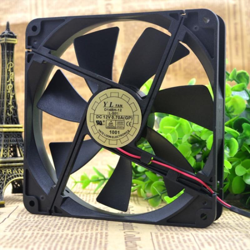 Livre Delivery.14 cm 14025 resistência a poder da AN yue lun/ventilador D14BH-12 mudo um ventilador de refrigeração