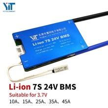 7S 24V ליתיום סוללה 3.7V כוח הגנת לוח הגנת טמפרטורת פונקצית השוואת זרם יתר הגנת BMS PCB