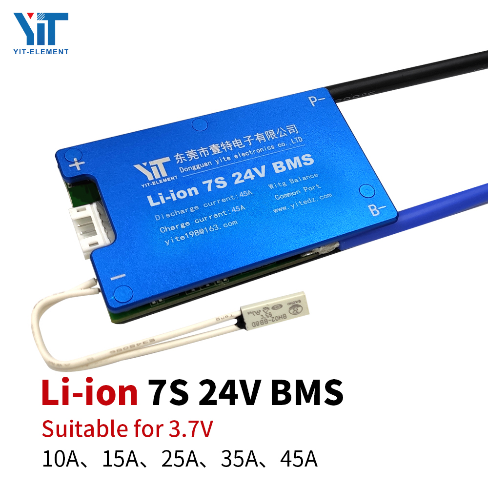 7S 24V Lithium Battery 3.7V Power Protection Board Temperature Protection Equalization Function Overcurrent Protection BMS PCB