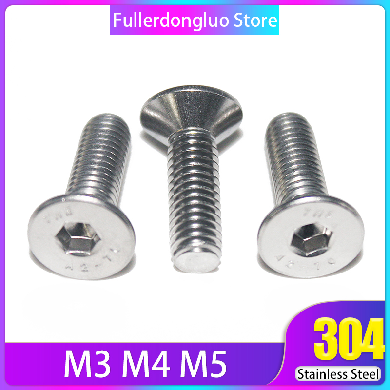 FLAT HEAD Socket Cap Screws Countersunk Class 12.9 Qty 10 8mm x 1.25 x 12mm