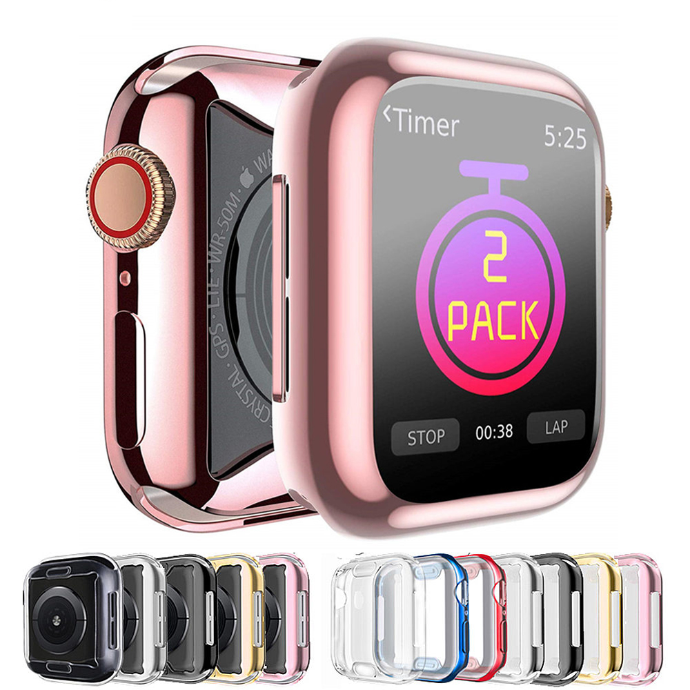 Funda de TPU para carcasa de reloj Apple, 44mm, 40mm, iWatch, 42mm, 38mm, protector de pantalla suave, parachoques para apple Watch series 6 5 4 3 2 se