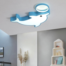 купить Cartoon  Animal Kids Light For Boys Girls Bedroom Nursery Ceiling Dolphin Dimmable Led Ceiling Light Lamp Children Kids Room по цене 3707.92 рублей
