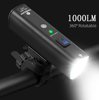 ROCKBROS Fahrrad Licht Fahrrad Licht Smart Vibration Sensing 1000Lumen 4000mAh 5 Modi LED Taschenlampe MTB Front Lampe Bike lampe