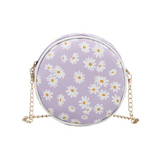 Women's Bags Daisy Small Summer Round-Bag Phone Printed Korean-Version And New-Products