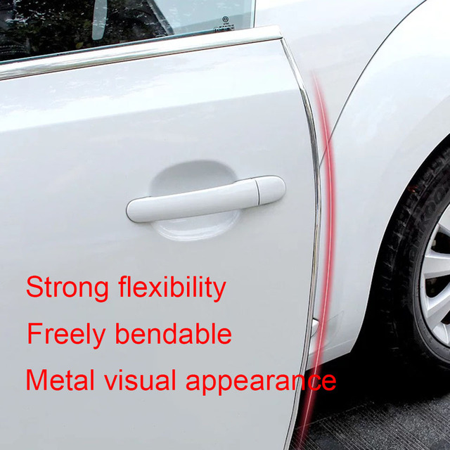 5M Car Styling Strips Rubber Edge Doors Mouldings Universal Car Door Edge Rubber Scratch Protector Sticker For Car Auto Seal