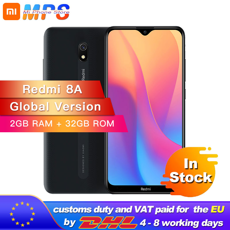 Global Version Xiaomi Redmi 8A 32GB 2GB Smartphone Snapdargon 439 Octa Core 12MP AI Camera Type-C 5000mAh