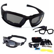 Тактические очки X7 поляризационные солнцезащитные очки страйкбол Пейнтбол Пешие прогулки военные очки охотничьи очки с 4 линзами