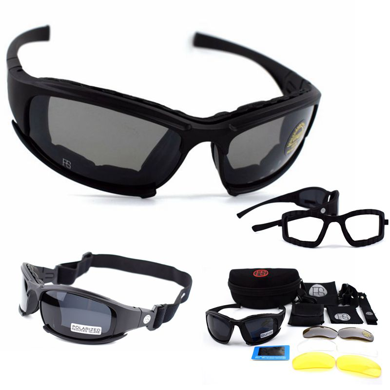 Tactical Glasses X7 Polarized Sunglasses Airsoft  Paintball Hiking Military Goggles Hunting Shooting Eyewear With 4 lens