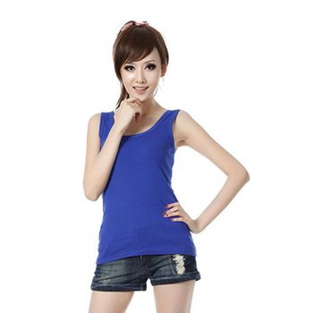 2019 Spring Summer Tank Tops Women Sleeveless Round Neck Loose T Shirt Ladies Vest Singlets Camisole Cotton Ladies Thin Vest 1 2