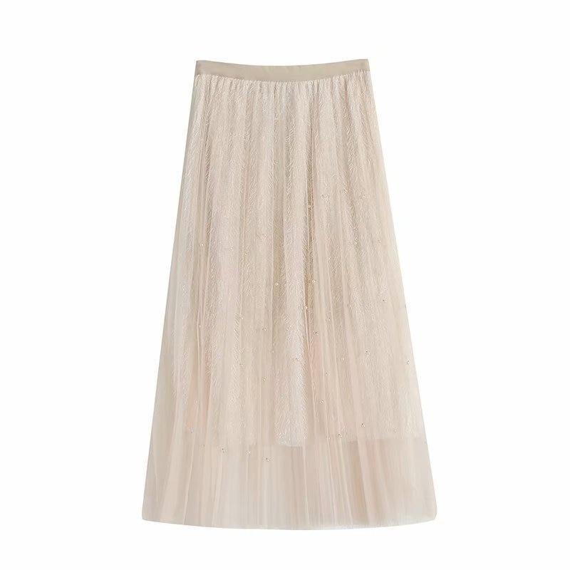 Szz3-289-Tassels Bead Wang Sha Skirt