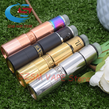 Elthunder Mod with drop rda pring button mechanical mod 510 thread 18650 battery 24mm Vaporizer Mechanical vape