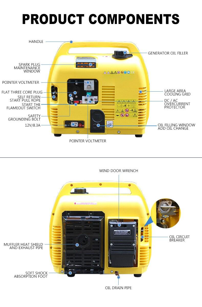 Gerador de gasolina gerador de gerador de