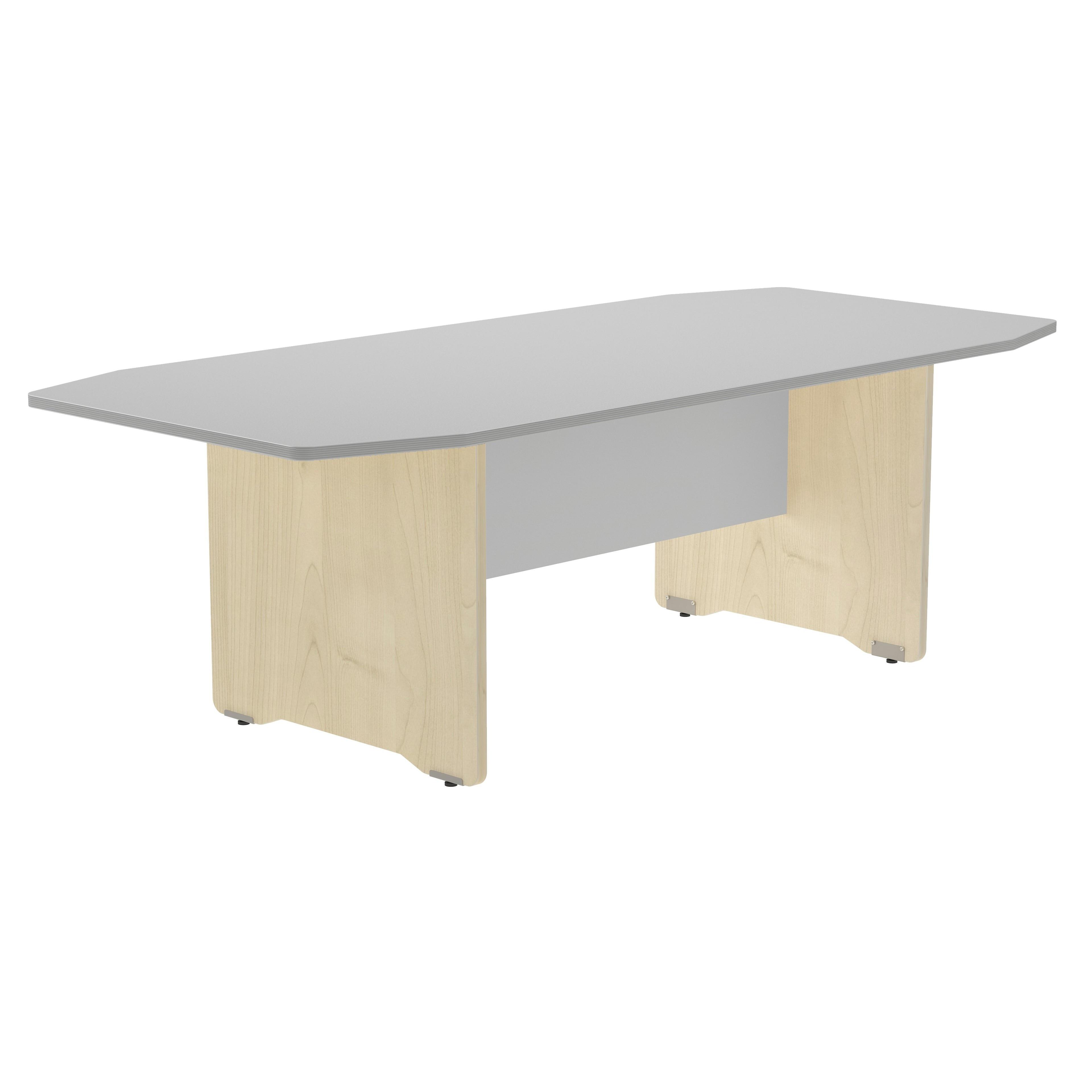 TABLE MEETING 220x100x72CM COLOR: LEG BEECH/DASH GREY
