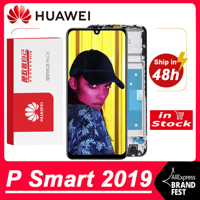 100% اختبار 6.21 10 تعمل باللمس عرض استبدال لهواوي P الذكية 2019 LCD تعمل باللمس الجمعية محول الأرقام ل POT LX1 L21 LX3