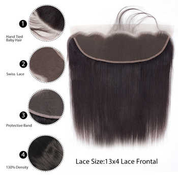 [BY] 13*4 Lace Frontal Closure Free TO Brazil Straight Brazilian Meches With Closure Wholesale Human Hair Lace Frontal Closure