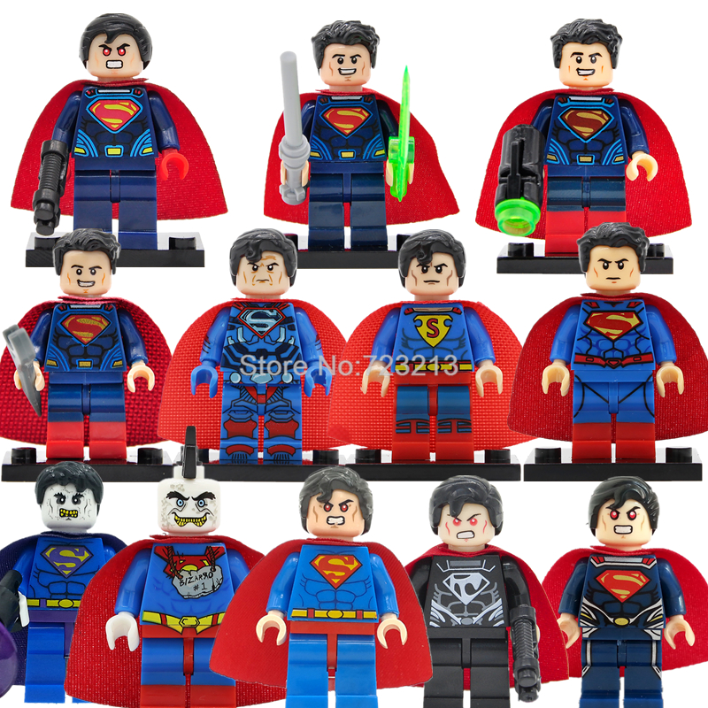 Single Superman Figure DC Superhero Set Cyborg Super Man Bizarro Building Block Sets Model Bricks Toys For Children Legoing