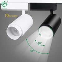 Zoomable Track Licht 12 W/20 W/30 W Führte Tracking Schiene Scheinwerfer Lampe Moderne Dimmbare Beleuchtung Leuchte showroom Bar Lichter