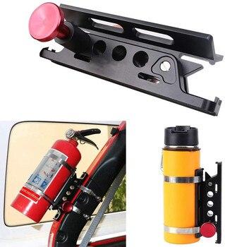 Adjustable Roll Bar Fire Extinguisher Mount Rack Fit For Jeep Wrangler Unlimited CJ JK TJ Rubicon Sahara Sport For Polaris  /