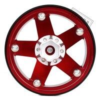 INJORA 4PCS Metal 2.2 Beadlock Wheel Rim 5 Spokes Hub for 1/10 RC Rock Crawler Axial SCX10 90046 RR10 Wraith TRAXXAS TRX4 5