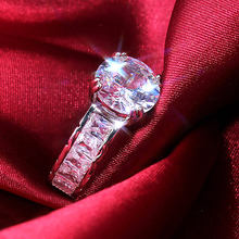 Ustar Роскошные 10 мм кубический цирконий Кольца для женщин