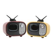 Bluetooth Stereo Speaker Retro TV Full Range Speaker Subwoofer Mini Audio Portable Speaker Support TF Card U Disk NFC Function ewa a105 mini portable bluetooth speaker w tf handfree function yellow silver