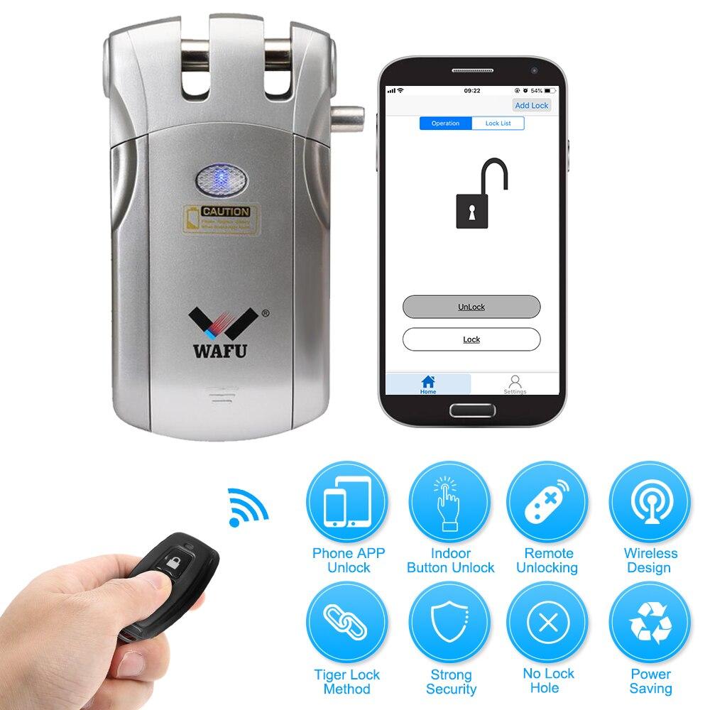 WAFU WF-018U télécommande sans fil serrure de sécurité Invisible sans clé serrure intelligente serrure de porte intelligente iOS Android APP déverrouillage