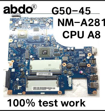 ACLU5//ACLU6 NM-A281 For Lenovo Ideapad G50-45 Motherboard A8-6410U DDR3 New