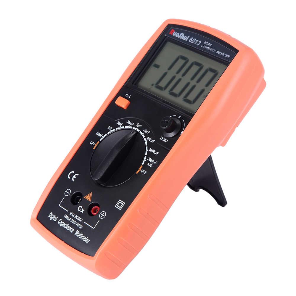 6013 Victor RuoShui cyfrowy miernik pojemności Manual zakres 2000 liczy kondensator Tester 20000uF