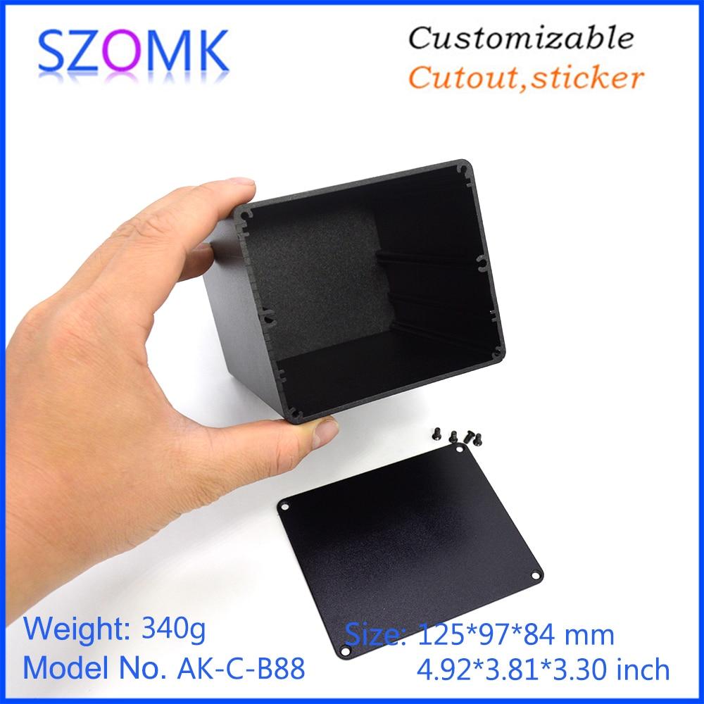 szomk aluminum enclosure for electronics device housing for pcb design audio aluminum control box enclosure casing (5)