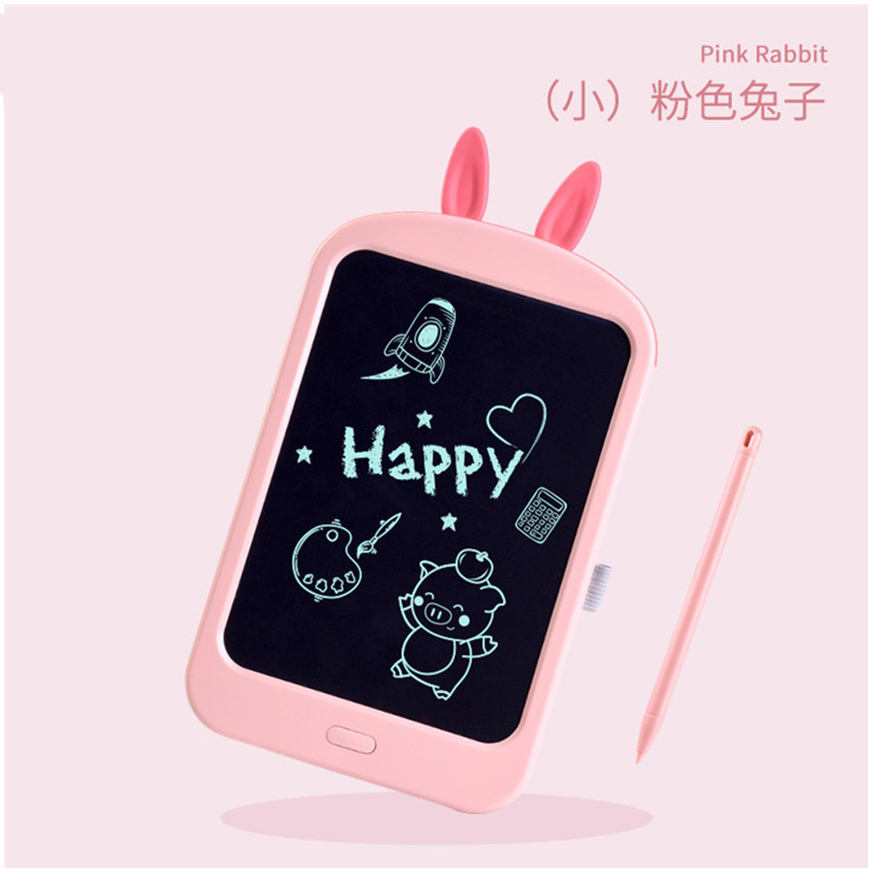 Children Liquid Crystal Drawing Board Handwriting Board Electronic Light Small Blackboard Doodle Board Household Painted Doing H