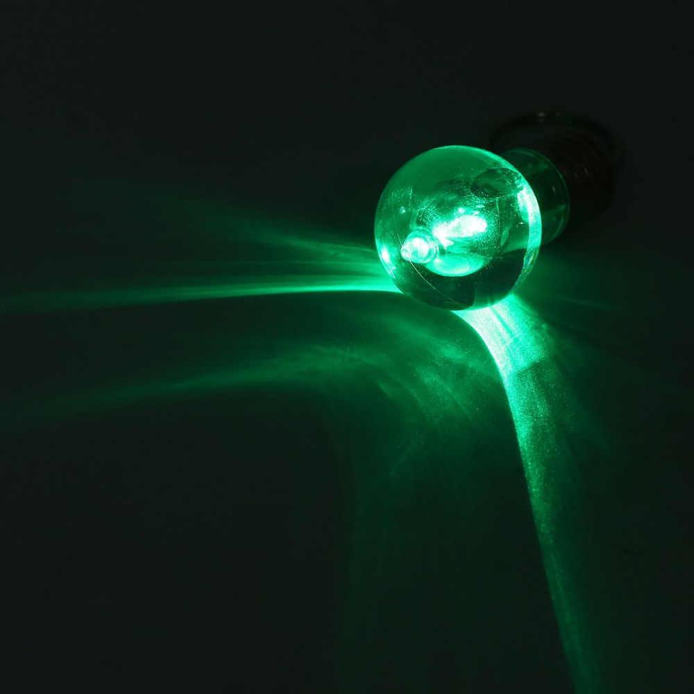 1PCS Creative צבעוני שינוי LED פנס אור מיני הנורה מנורת מפתח שרשרת טבעת Keychain ברור מנורת לפיד Keyring סיטונאי
